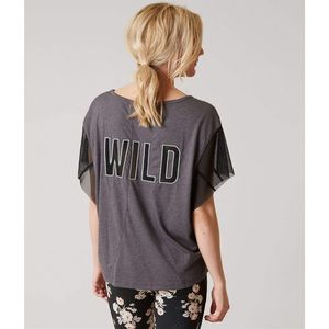 Free People Movement Wild Logo Shirt Top M